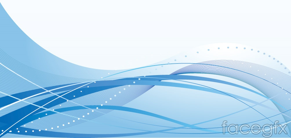 Blue Wave Line Vector Background Free Download