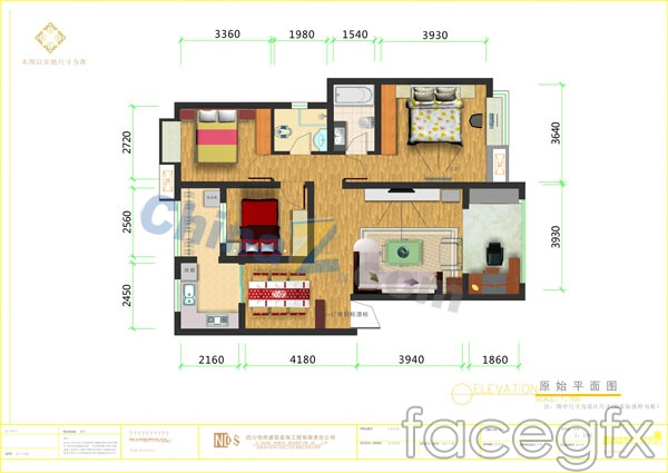 Home plan vector
