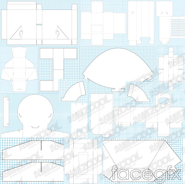 80 classic package cutting vector -7