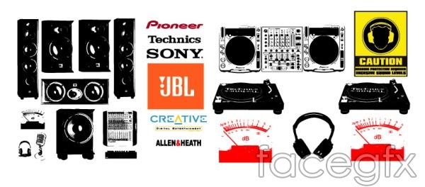 Audio consoles and audio LOGO vector