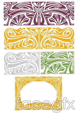 Classical vector Dragon pattern abstract background