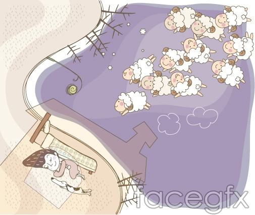 Cute line vector illustration-23