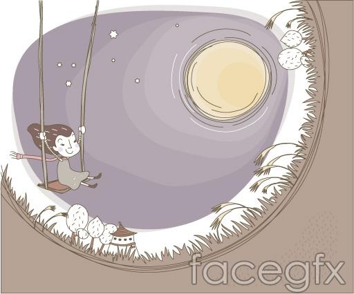 Lovely vector illustration line-21