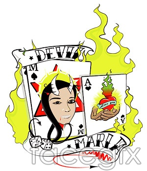 Poker with the fire element vector