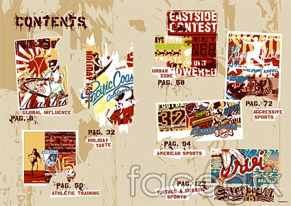 Sport and street fashion culture element vector -1
