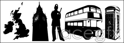United Kingdom style elements vector