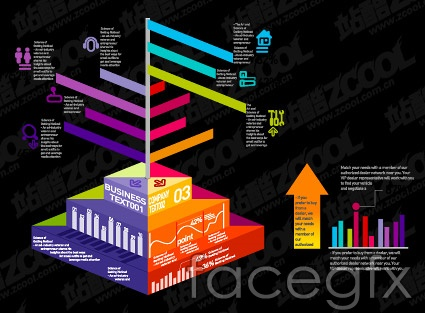 Various types of statistical charts vector -34