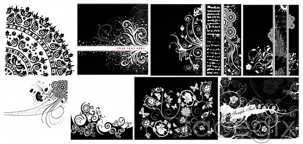 Vector black and white pattern