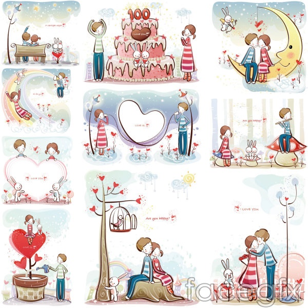 Young couples vector 31-40