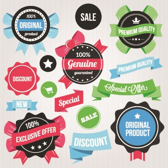 Product elements labels vector 01