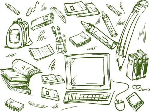 School drawn Creative vector 09