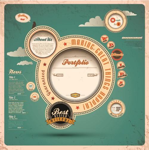 Vintage Style garbage label Design Elements vector 02