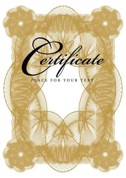 Certificate lace frames design vector 05