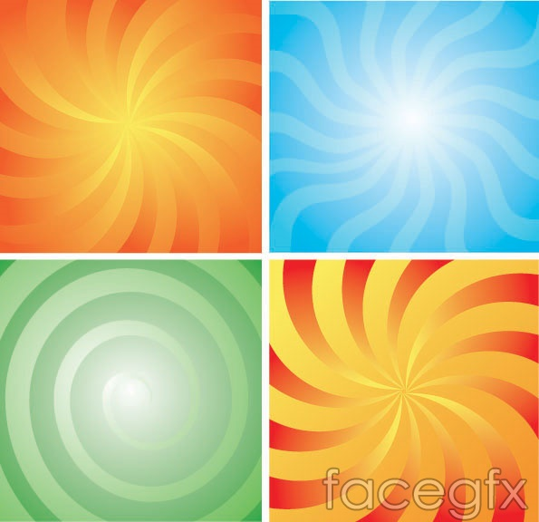 4 Rotary lines background vector