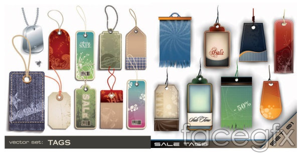 All kinds of tag vector