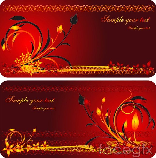 Chinese red cards designs vectors vector