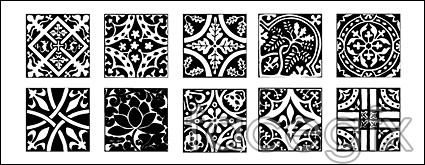Classic Chinese tile pattern vector
