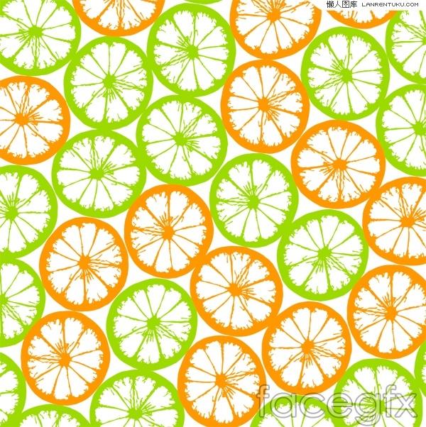 Fresh orange tiled background vector