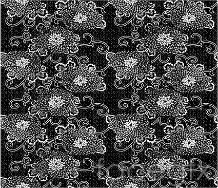 Japan traditional tiled background vector series-20