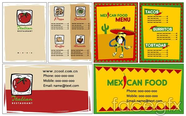 Restaurant simple VI template vector