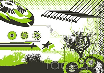 Selection of stylish design elements vector 65