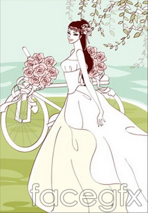 Sweet marriage rose vector design