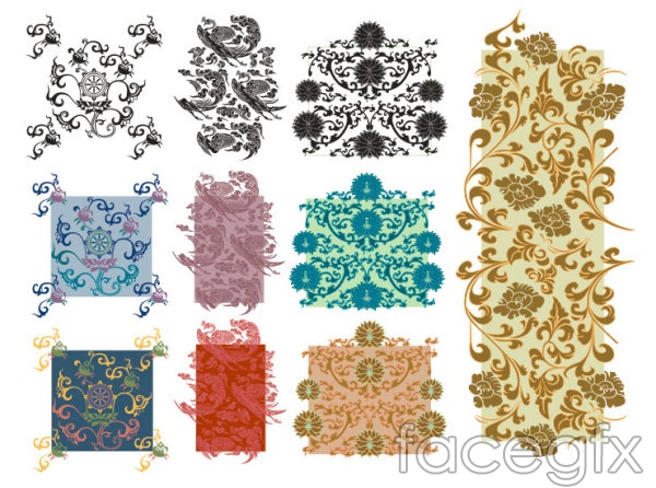 Traditional classical shading vector background