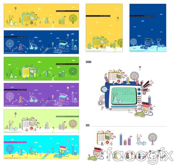 Vector cartoon footage 2