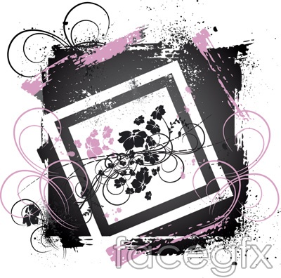Vector pattern backgrounds lace borders