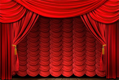 Luxurious Red Curtain vector 01