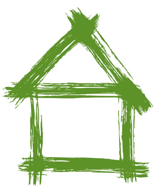 Set of Green Eco House vector 04