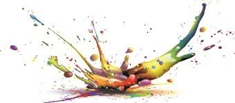 Splash paint Effect vector 05