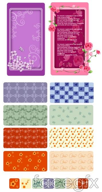 Korea floral vector background series-18