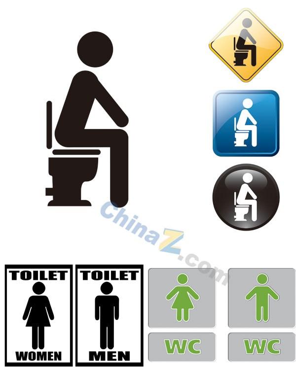 WC toilet icon design vector. WC toilet icon design vector   Free download