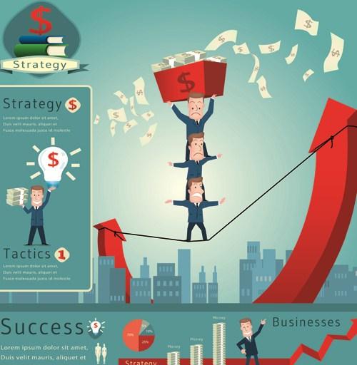 Financial elements infographics vector 02