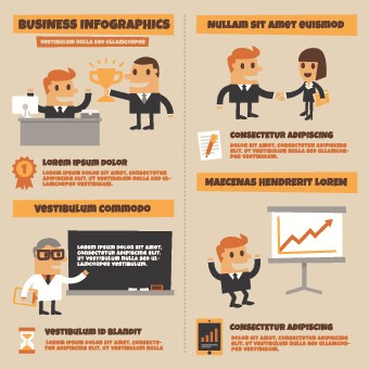 Infographics and people design vector 02