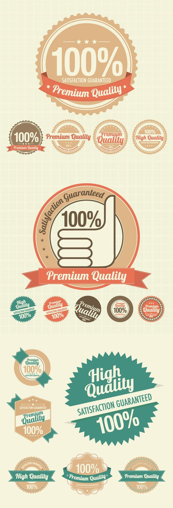 Quaint quality tag vector