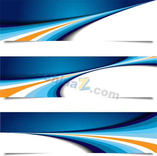 Banner blue banner template vector