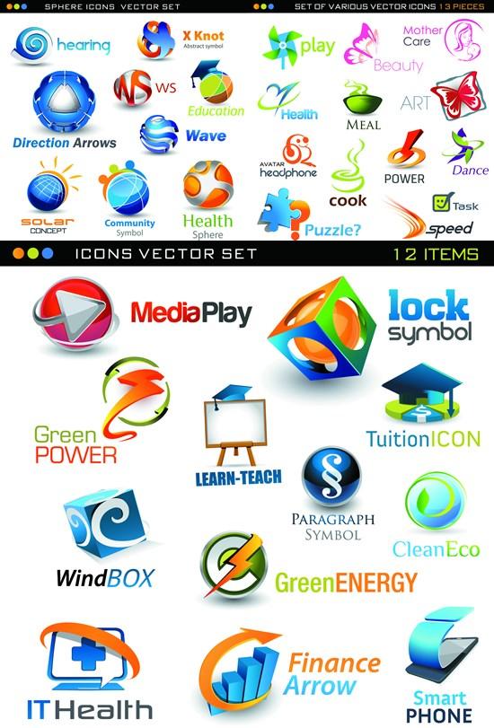 Color stereo icon vector