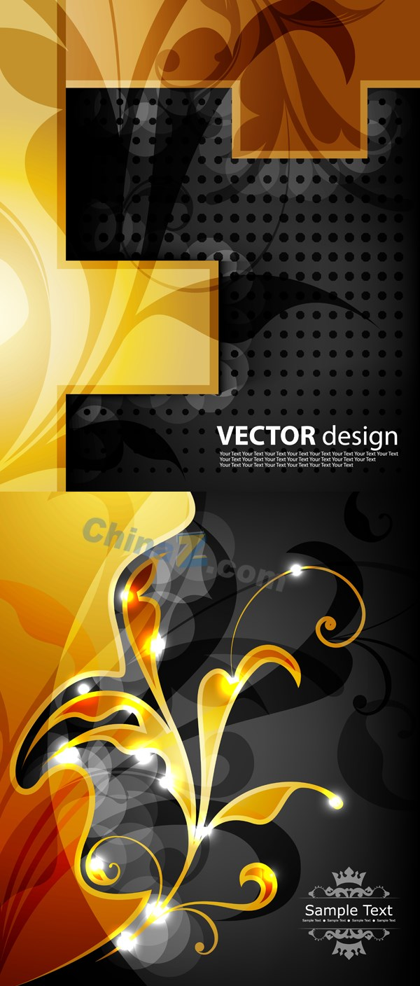 Design Gold pattern vector