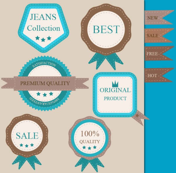 Different guaranty quality labels vector set 01