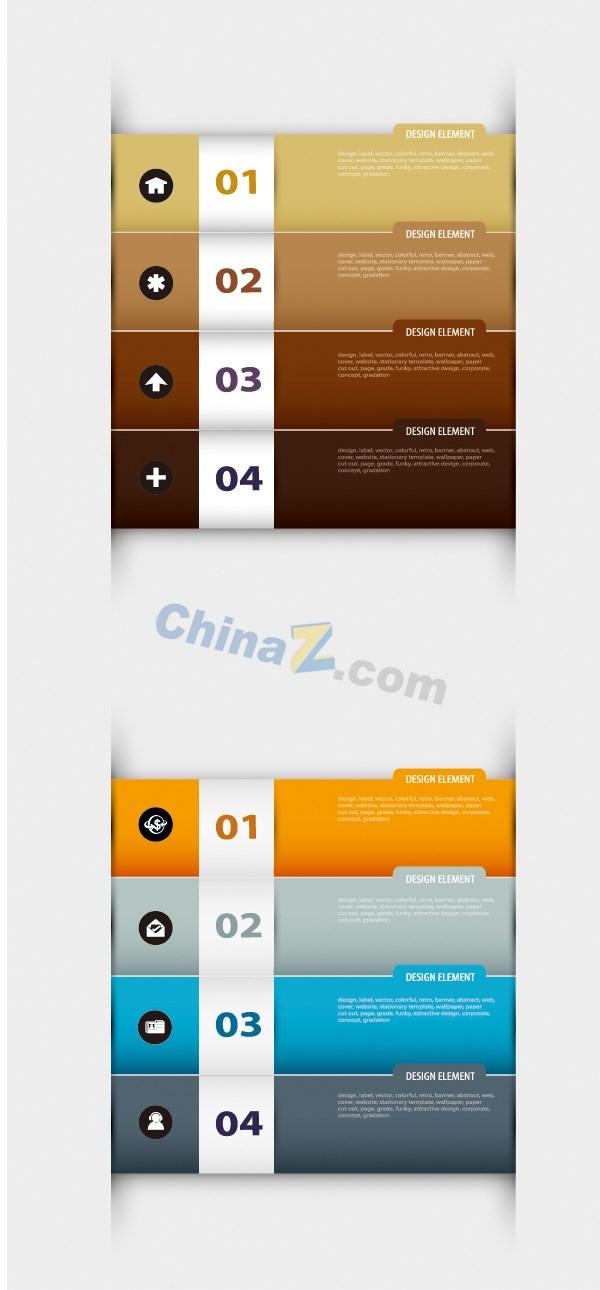 Digital banners vector design