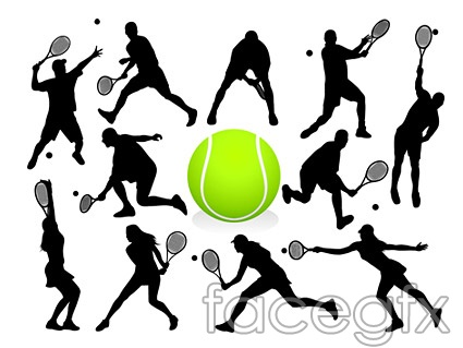 Tennis standard action vector