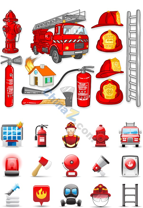 Fire-fighting appliances vector
