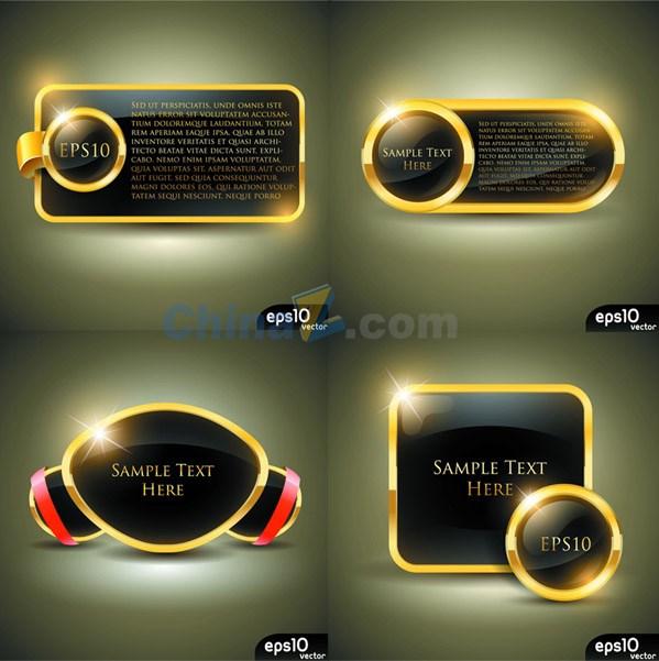 Luxury gold label vector