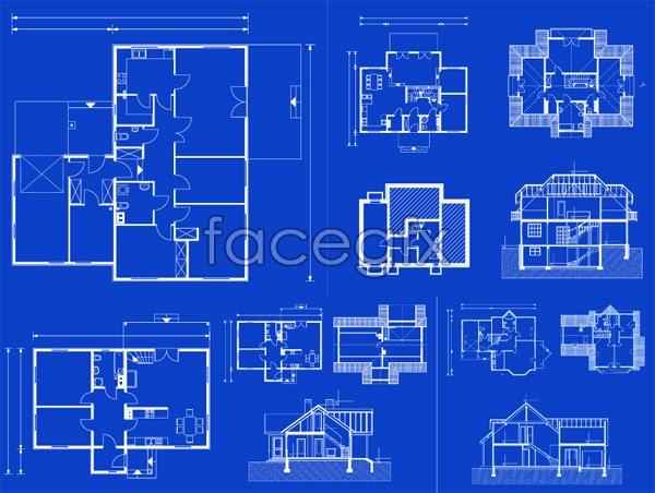 Indoor floor plans vector