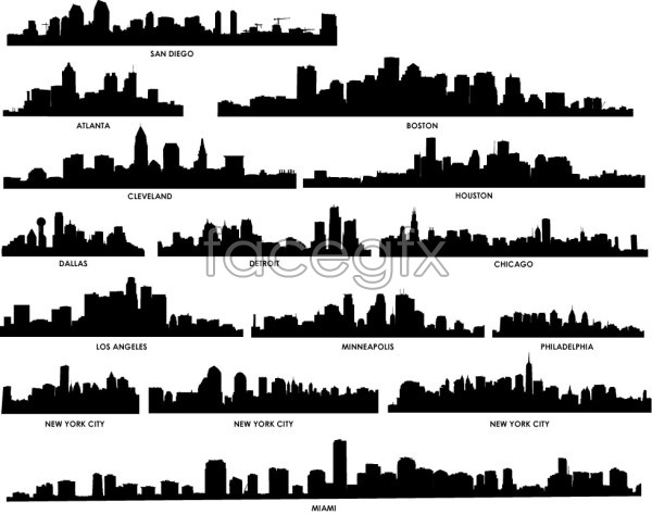 Snap shots of various cities of the world 2 vector