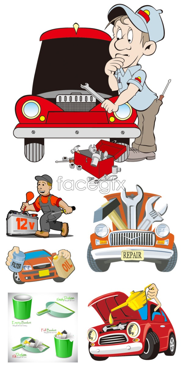 Cartoon illustrations vector