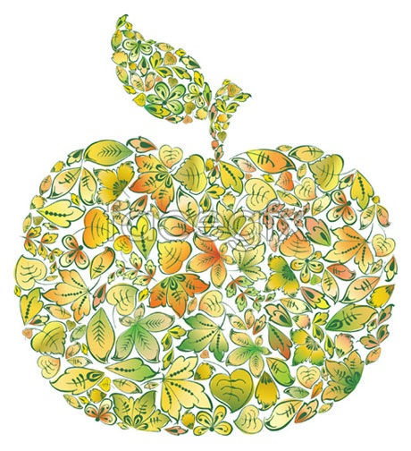 Consisting of leaves Apple vector