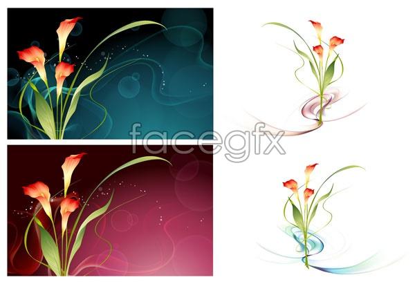 Dream flower vector 13